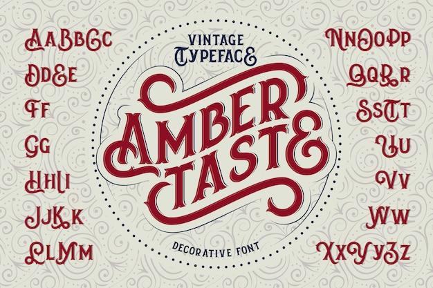 Vintage lettertypeset