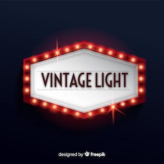 Vintage licht aanplakbord
