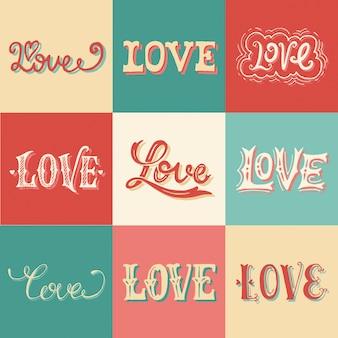 Vintage liefde hand-belettering