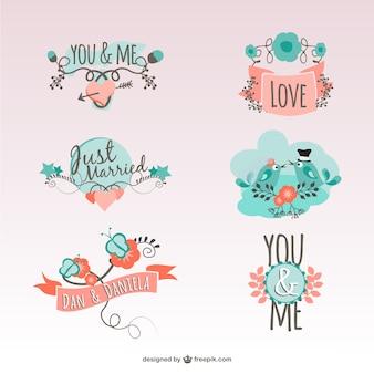 Vintage liefde stickers