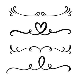 Vintage lijn elegante scheidingslijnen en scheidingslijnen