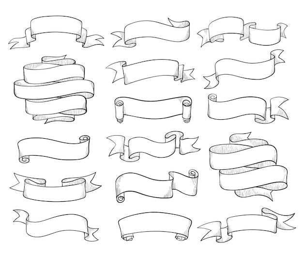 Vintage linten schets