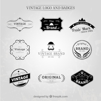 Vintage logo en badge collectie