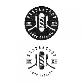 Vintage logo kapper, moderne stijl