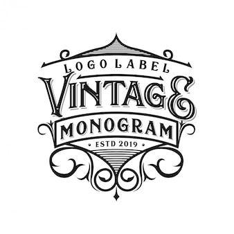 Vintage logo-ontwerp voor verschillende doeleinden