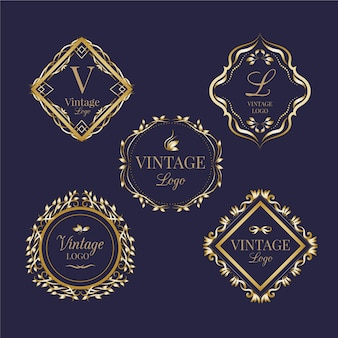 Vintage logo's collectie