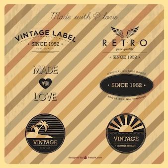Vintage logo's gratis te downloaden