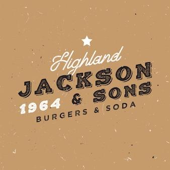 Vintage logo sjabloon. retro insignes voor merkprojecten. familiebadge badge.