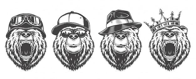 Vintage logo-stijl beer