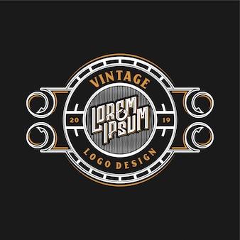 Vintage logo voor eten of restaurants