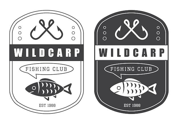 Vintage logo voor jagen en vissen