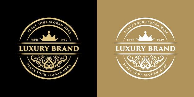 Vintage luxe grens westerse antieke logo frame label hand getekende gravure retro geschikt voor handgemaakt bier, wijnwinkel en restaurant