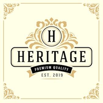 Vintage luxe monogram logo sjabloon