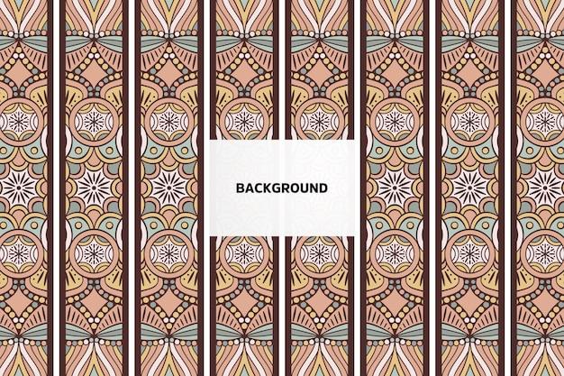 Vintage mandala patroon achtergrond