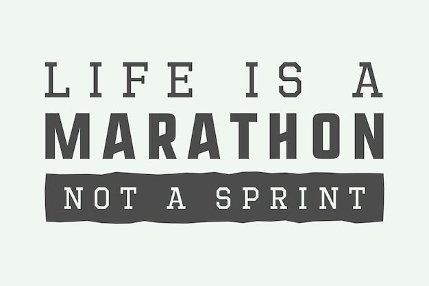 Vintage marathon-slogan