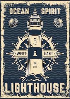 Vintage mariene poster
