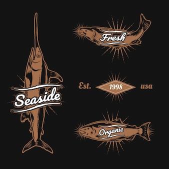 Vintage marine logo's