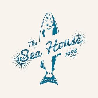 Vintage marine-logo