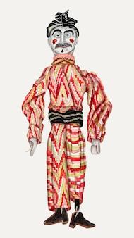Vintage marionet illustratie vector, geremixt van het kunstwerk van hilda olson