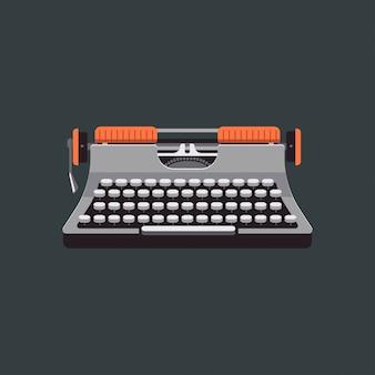 Vintage mechanische typemachine illustratie