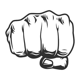 Vintage menselijke vuist punch