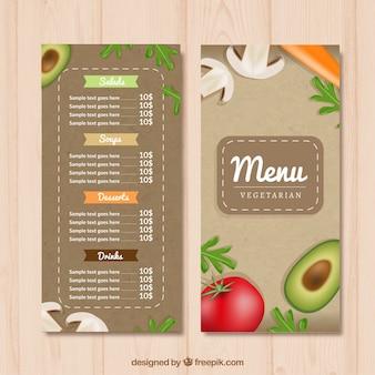 Vintage menu vegan met groenten
