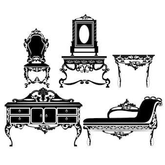 Vintage meubelen collectie