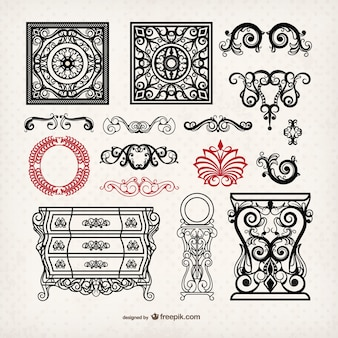 Vintage meubels en ornamenten