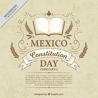 Vintage mexicaanse grondwet dag achtergrond