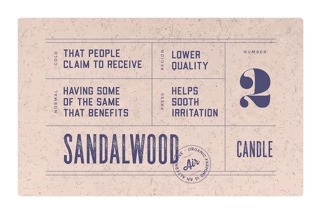 Vintage minimaal label. set van grafisch modern vintage label, label, sticker voor merk, logo, verpakking. retro design minimaal label, tag of kaart, klassieke old school stijl, typografie.