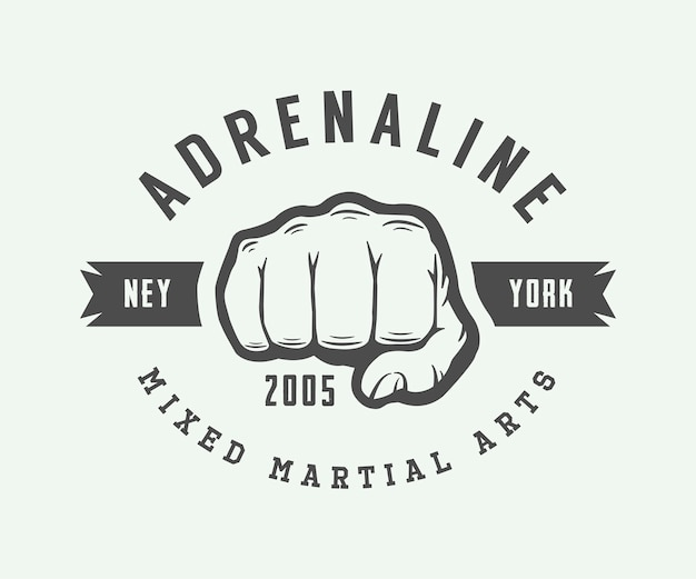 Vintage mixed martial arts-logo