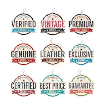 Vintage mode labels ingesteld