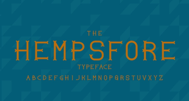 Vintage moderne alfabet lettertype. lettertype typografie met vintage concept voor label, kop, logo, poster etc.