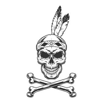 Vintage monochrome indiase krijger
