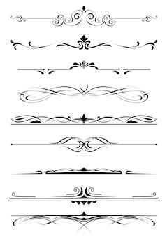 Vintage monogrammen en randen