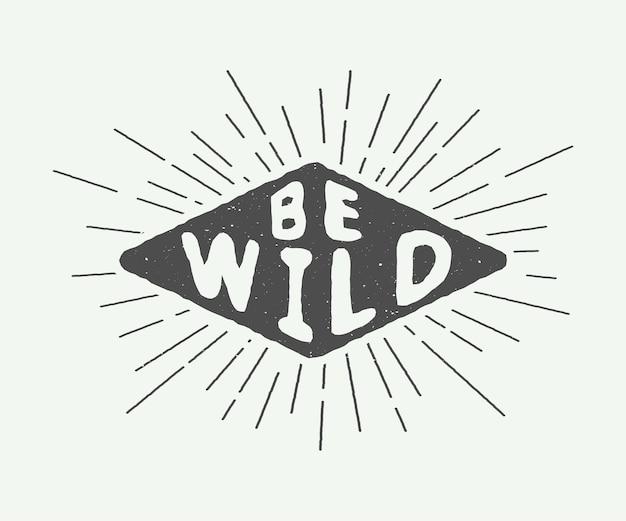 Vintage motiverende slogan