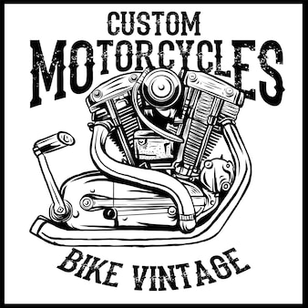 Vintage motor. aangepaste motorfietsen, vintage fiets.