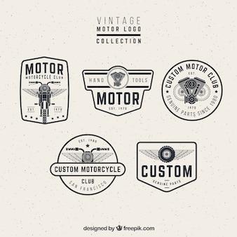 Vintage motor logos
