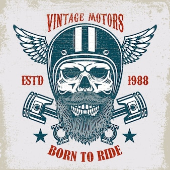 Vintage motoren embleem