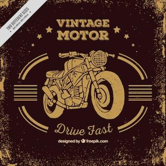 Vintage motorfiets achtergrond in sepia