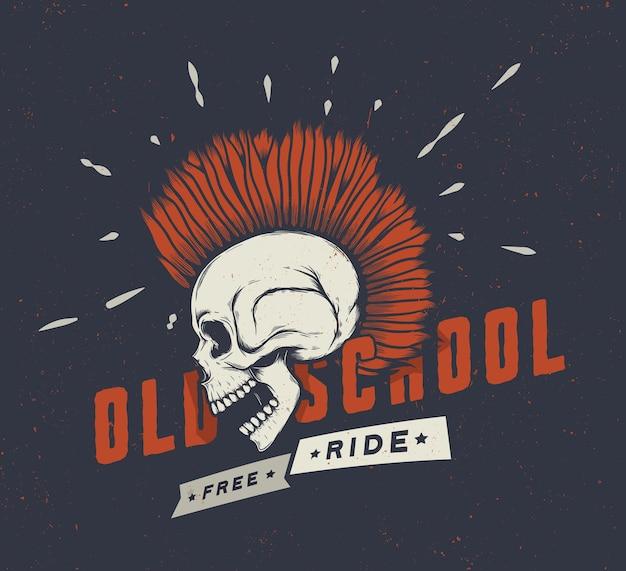 Vintage motorfiets graphics.