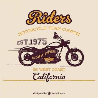 Vintage motorfiets gratis sjabloon