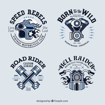 Vintage motorfiets logo collectie