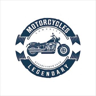 Vintage motorfiets logo ontwerp