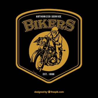 Vintage motorfiets logo sjabloon