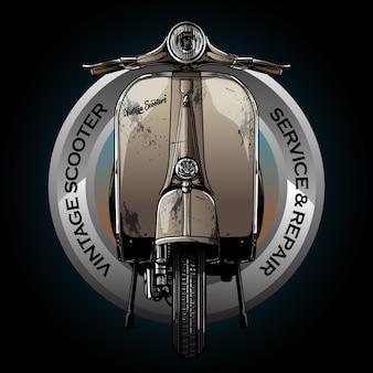 Vintage motorfiets logo