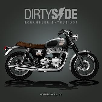 Vintage motorfiets poster