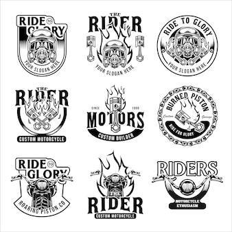 Vintage motorfiets sjabloon