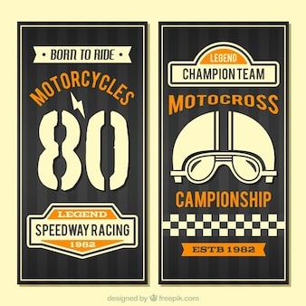 Vintage motorfietsen banners