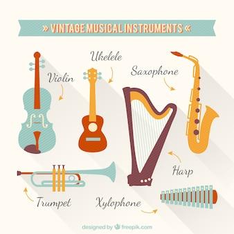 Vintage muziek instrumenten
